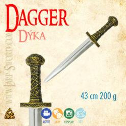 foam Dagger, měkčená dýka - larp, cosplay