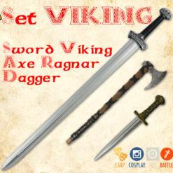 Set viking - foam viking sword, ax, dagger