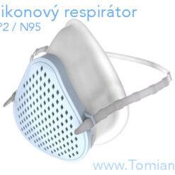 silikonový respirátor