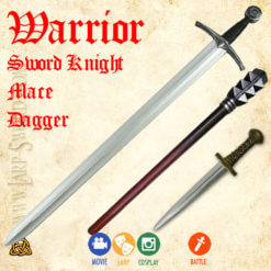 Warior set of foam weapons for larp, battle and cosplay