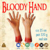 bloody hand zkrvavené ruce, rekvizita