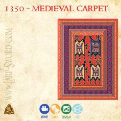 replika středověkého historického koberce - medieval historical rug